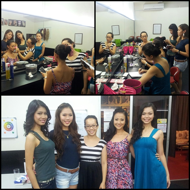 Makeup and Hairdo Grooming session with Beverly of MUAH Studio Miss Earth Malaysia 2012: Journey of our Environment Crusaders