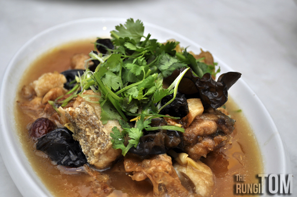 Braised Fish Head with Enoki Mushroom Red Dates Alu Alu Cafe, Jesselton Point