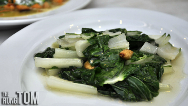 Organic Bak Choy with Garlic Alu Alu Cafe, Jesselton Point