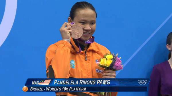 Pandelela Rinong wins Potong Song for Johari Pain