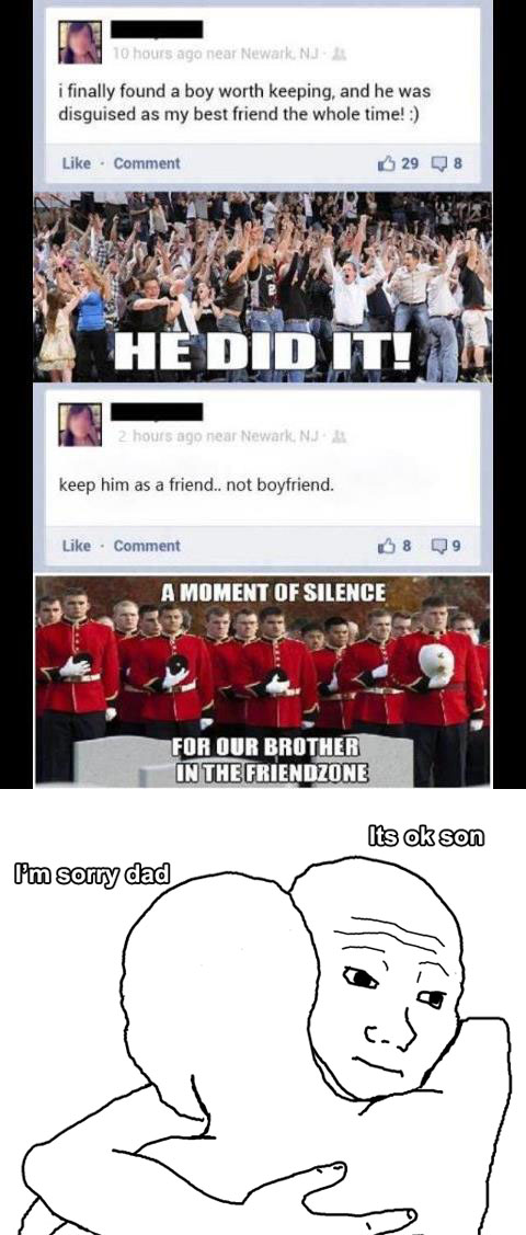 un friendzoned bad ending Meanwhile on Facebook… [Bad Ending]