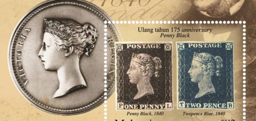 175th Anniversary Penny Black Stamp Pos Malaysia 2015 cover